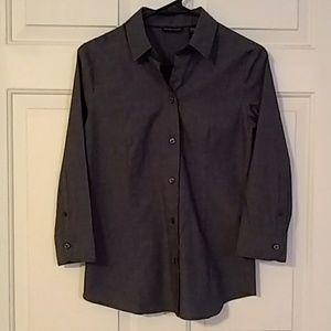 Blue New York & Company stretch dress shirt